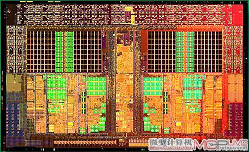 清晰可见芯片内部结构